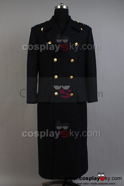 Torchwood Doctor Captain Jack Harkness Wool Trench Coat Dark Blue Version