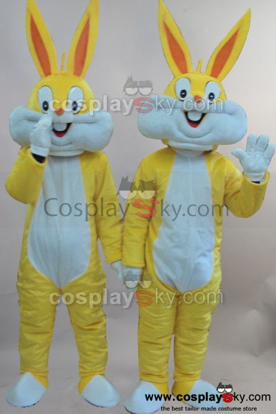 Two Cartoon Rabbits Mascot Cosplay Costume Adult Size
