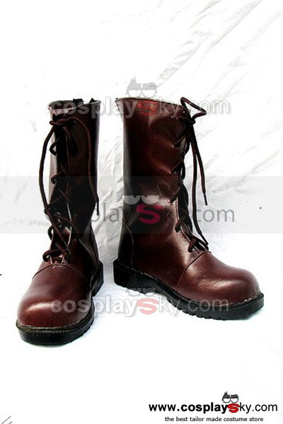 Vampire Knight kuran Yuuki Cosplay Boots Red Brown