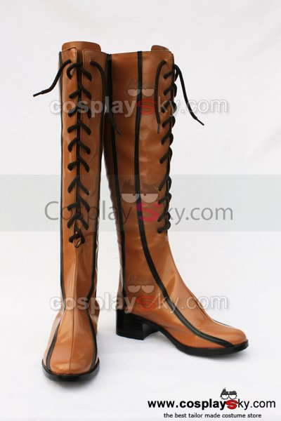 Vocaloid 2 Rin Cosplay Boots Shoes Custom Made