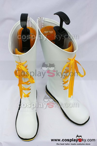 Vocaloid Kagamine Rin Len White Cosplay Boots Shoes