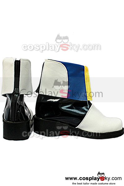 Vocaloid Kaito Cosplay Boots White Shoes Custom Made