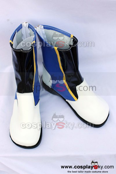 Vocaloid Kaito White Cosplay Boots Shoes Custom Made