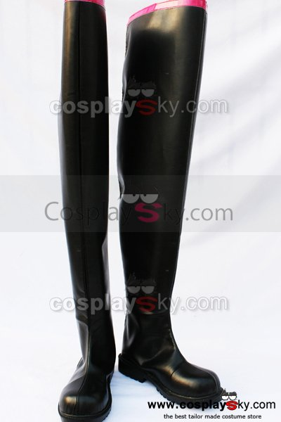Vocaloid Miku Cosplay Black Boots Shoes Custom Made