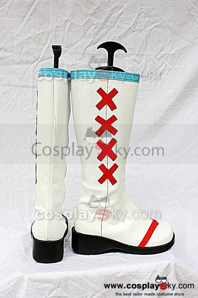 Vocaloid Miku Cosplay Boots White Shoes