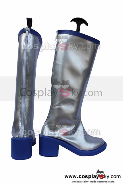 Vocaloid Snow Miku Cosplay Boots Shoes