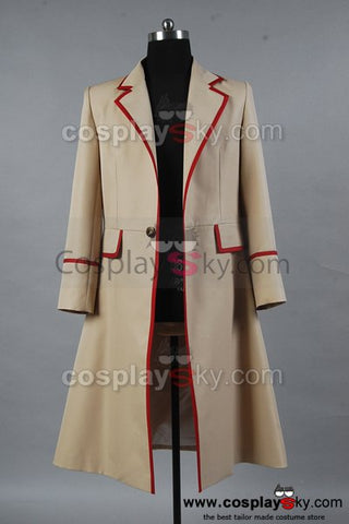 Doctor Who Red Stripe Beige Coat Costume