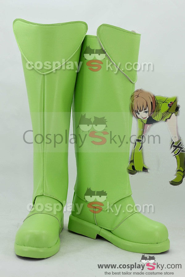 World Trigger Tamakoma First Kirie Konami Green Boots Cosplay Shoes