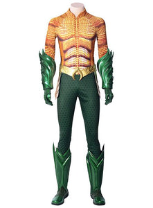 DC Justice League Aquaman Arthur Curry Outfit Cosplay Costume