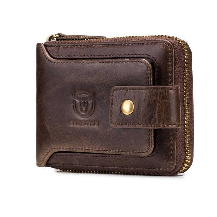 Men Cowhide Short Wallets