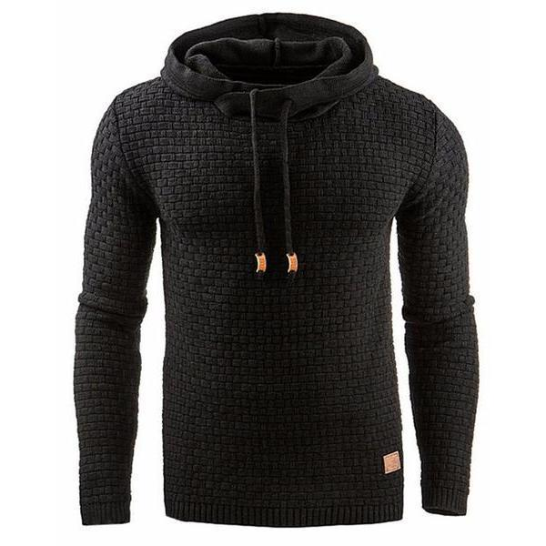 Men Pure Color Casual Sport Hoodies