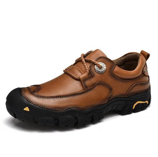 Men Large Size Casual Walking Shoes Outdoor Leisure Shoes Leather Shoes