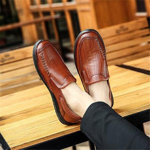 Men Leather Slip-on  High Quality Comfortable Casual Shoes