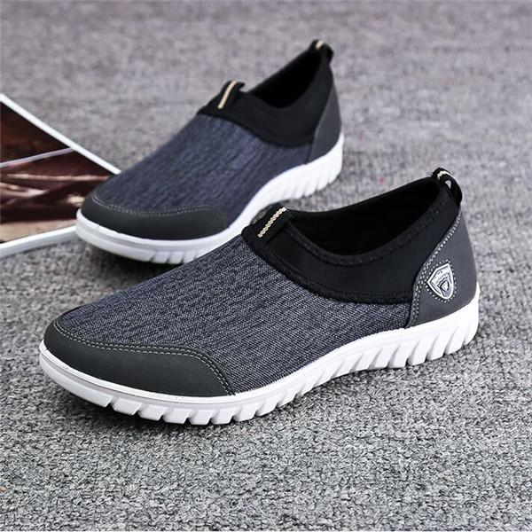 Large Size Breathable Slip On Flat Casual Shoes
