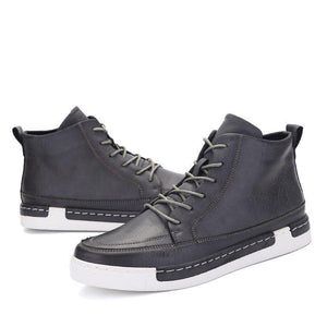 Men British Style Lace Up Casual Ankle Boots