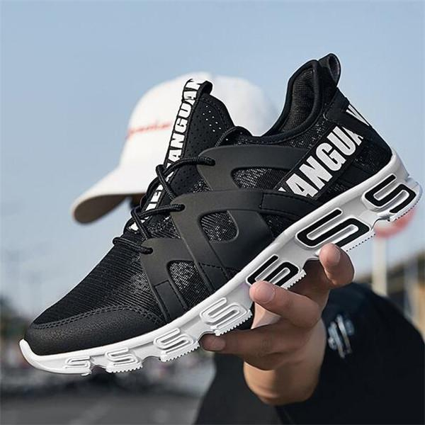 Men Breathable Mesh Lightweight Lace Up Casual Sneakers