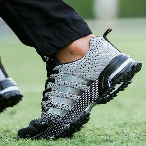 Men Knitted Fabric Breathable Air-cushion Sole Casual Running Sneakers