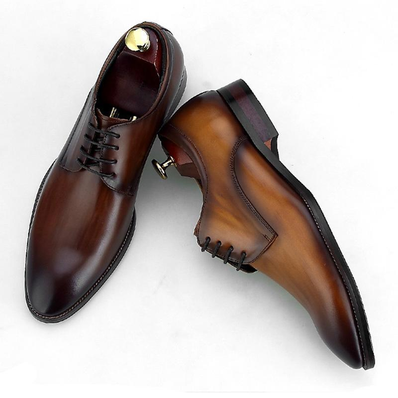 Fashion Mens High Quality Leather Derby Dress Shoes