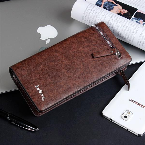 Men's Leisure Business Zipper Buckle 11 Card Slot Wallet Multifunction Clutch Phone Bag