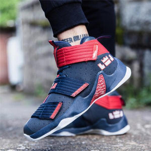 Men Wear Resistant Shock Absorption Basketball Shoes