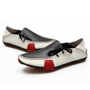 Men Genuine Leather Loafers Moccasins Driving Shoes