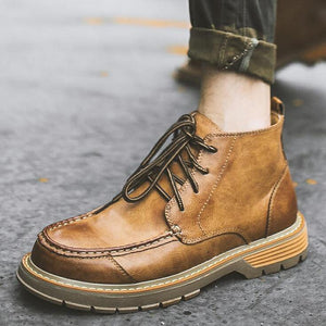 Men Microfiber Leather Warm Casual Boots