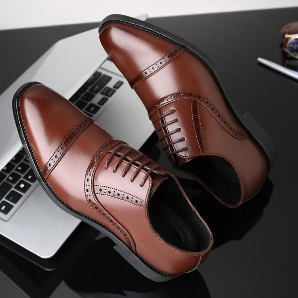 Large Size Men Brogue Lace Up Casual Oxford Shoes
