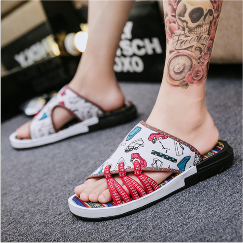 Man Vintage Non-slip Breathable Denim Lightweight Slipper