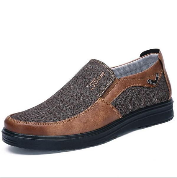 Large Size Men Color Block Old Peking Style Cloth Casual Shoes