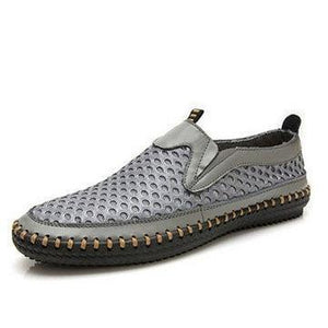 US Size 6.5-12 Mens Breathable Mesh Sweat Absorption Slip On Oxfords Flats