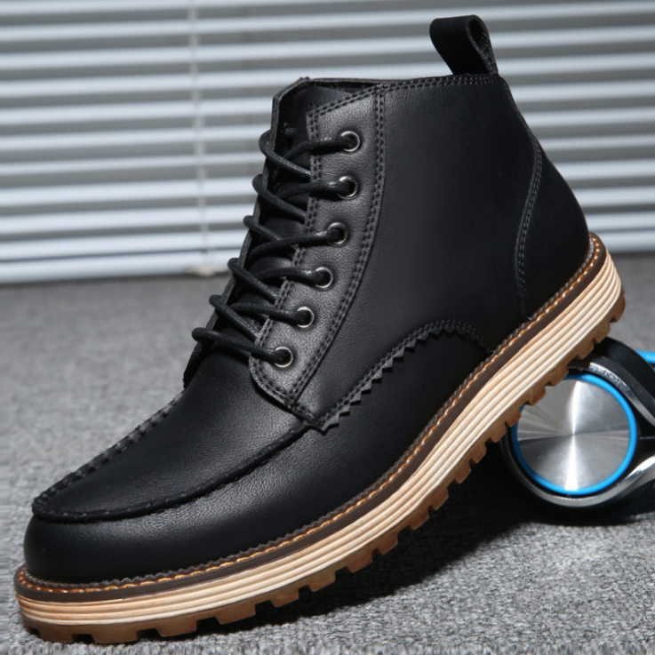 Men British Stylish Classic Lace Up Ankle Boots