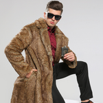 Casual Faux Fur Coat Long Sleeve Warm Outwear