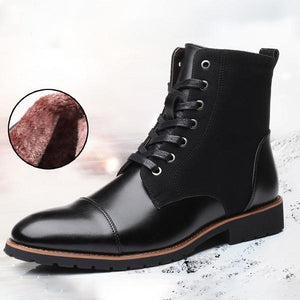 Large Size Men High Top Non-slip Warm Plush Lining Boots