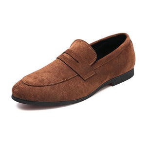 Men High Quality Leather Flats Shoes