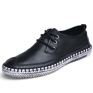 Large Size Men Stitching Toe Protecting Casual Loafers