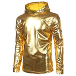 Men Long Sleeve Gold T Hooded Casual shirts