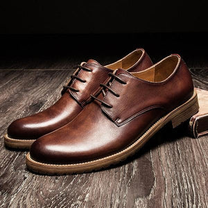 2018 New Large Size Men Genuine Leather Breathable Casual Shoes