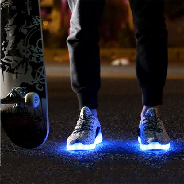 Men Women USB Charger Led Light Shoes Unisex Casual Sports Fashion Sneakers Lace Up Shoe
