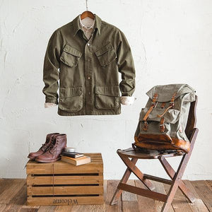 Men Retro Military Jacket