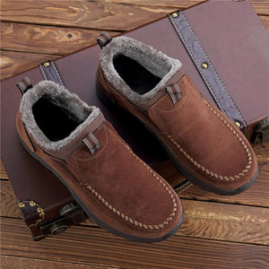 Large Size Men Suede Comfy Warm Plush Lining Ankle Boots