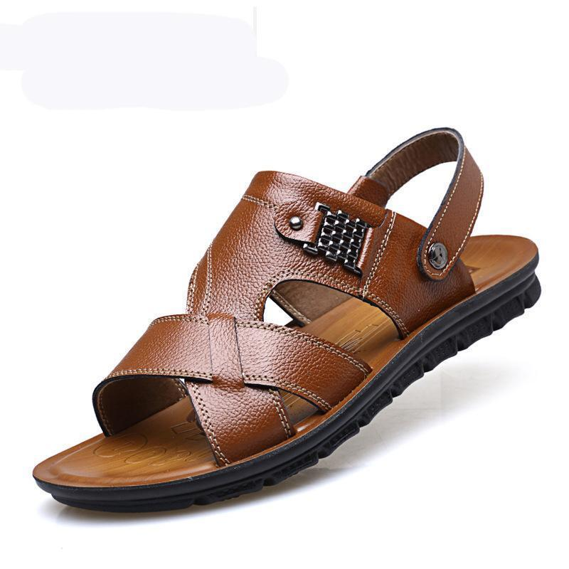 Men Opened Toe Leather Water Friendly Casual Sandals