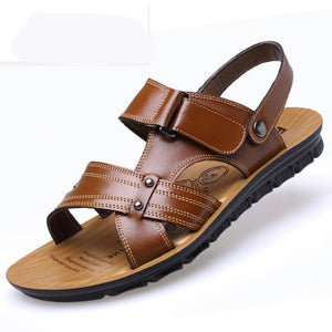 Men Leather Opend Toe Comfortable Sole Casual Sandals