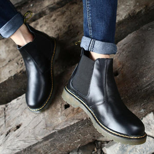 Large Size Men Vintage Elastic Slip On Classic Casual Boots