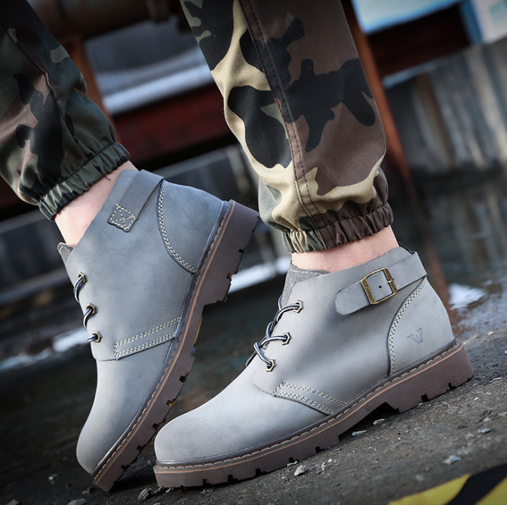 Men Cow Leather Fashion Leisure Boots