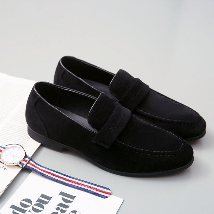 Men Casual Suede Driving Lazy Loafers Slip on Flats Moccasins