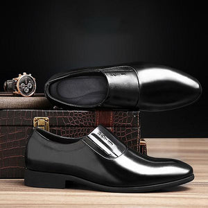 Men Leather Dress Business Casual Shoes
