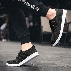 Men Canvas Old Peking Lace Up Casual Sports Shoes