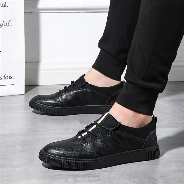 Men Retro Hand Stitching Business Leather Shoes Lace Up Casual Shoes