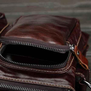 Men's Leather Briefcase Crossbody Bags