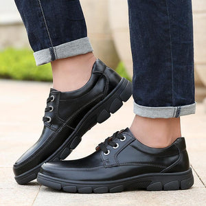 Genuine Leather Non-slip Wear-resistant Casual Shoes